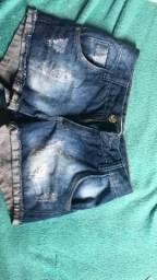 Shorts jeans tamanho 36