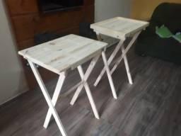 Mesas em madeira dobravel multiuso