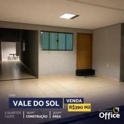 Casa  com 3 quartos - Bairro Residencial Vale do Sol em Anápolis