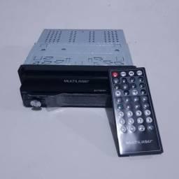 DVD Player retrátil 7'' Multilaser - Bluetooth, GPS, TV digital, espelhamento - GP044