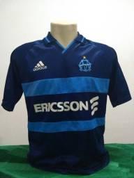 Camisa do Olympique de Marselha da França 1999 Adidas