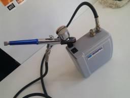 Compressor wimpel comp03 + aerografo R$350