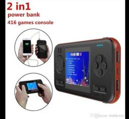 Bateria Portatil & vídeo game 2 em 1 jogador Do Jogo Retro