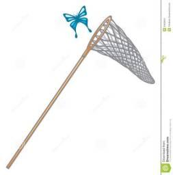 Rede com cabo para pegar peixe ou borboletas