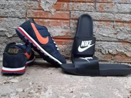 Tênis Nike e Chinelo