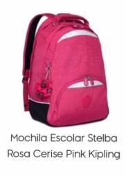 Mochila escolas stelba rosa cerise pink kipling