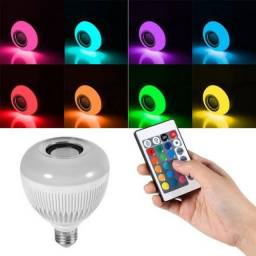 COD: 0071 Lampada Bluetooth Led Rgb Branco Caixa Som Musical