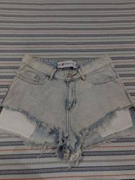 Short jeans tamanho 38 cintura alta