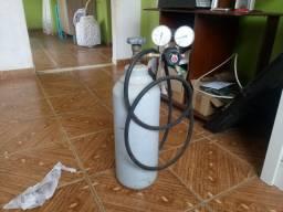 Bomba de vacuo e cilindro nitrogenio completo
