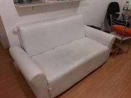 Sofá cama branco Tok&Stok