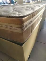 ;; Promoçao Cama Box + Colchao Granada Queen 158x198 confira