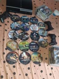 Ps3 Personalizado Arlequina 3 controles 18 jogos