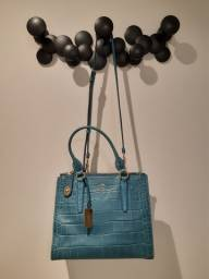 Bolsa Original Coach Azul Turquesa, uma preciosidade
