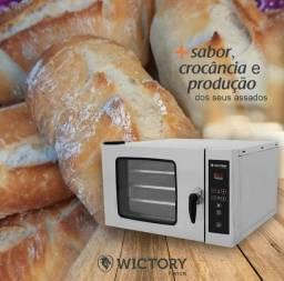 Forno de convecçao pratica e wictory hpe80 miniconv hpe120