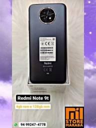 Redmi Note 9t 4gb ram e 128gb armazenamento