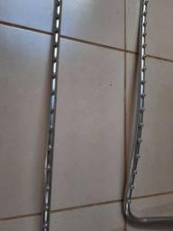 Cabideiro arara de parede em inox