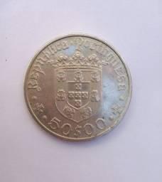 Título do anúncio: Moeda portuguesa em prata 1968. P150