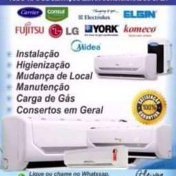 Título do anúncio: Instalação manutenção conserto em ar condicionado em geral *