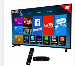 "Smart tv led 50"" Hyundai hy50atfa full hd wi-fi / hdmi / usb com conversor digital"