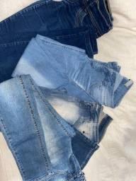Calças jeans todas por R$45,00