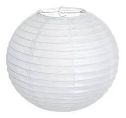 Luminária Lanterna Chinesa Japonesa Oriental Branca 40cm