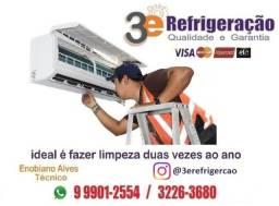 Higienizacao, limpeza, instalação, manutenção de ar condicionado split