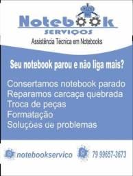 Título do anúncio: Consertamos notebook parado.