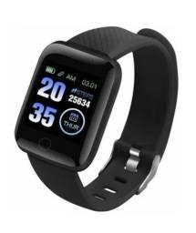Relógio Smart Watch S116 Plus Tela Colorida À Prova D 'água Com Monitor De Frequência