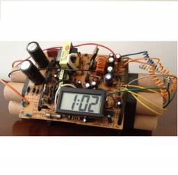 Relógio Decorativo De Mesa Simulacro Bomba