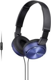 Fone de Ouvido Com Microfone Headphone Sony audio musica som dobravel live video