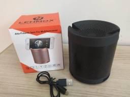 Caiiixinha de soomm Bluetooth portátill Lehmox Q3 - Muuuito boa