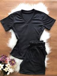 Conjunto blusa e short