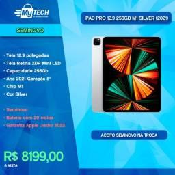 Título do anúncio: iPad Pro 12.9 256GB Chip M1 Silver (Seminovo / 20 Ciclos)
