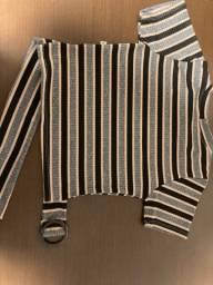 Título do anúncio: Blusa curta semi-nova!!