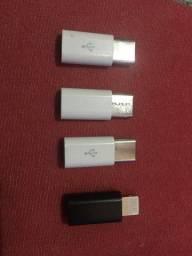 Micro adaptador Samsung e IPhone