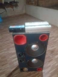 Título do anúncio: Vendo caixa de som para carro e módulo