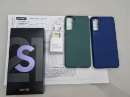 Título do anúncio: (TROCO) Samsung Galaxy S21 Plus 5G 128GB Nota Fiscal e Garantia + Capas + Carregador