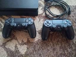 Playstation 4 slim 1 tb 2 controles 8 jogos