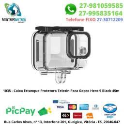 1035 - Promoção - Caixa Estanque Protetora Telesin Para Gopro Hero 9 Black 60m<br><br>