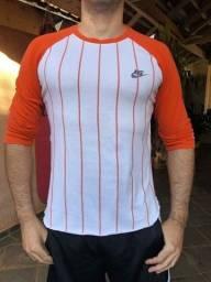 Camiseta Nike Waffle Raglan Listrada Branco / Laranja
