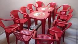 Mesa e cadeiras de festa/bar Amstel