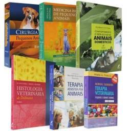 Coleção de livros novos veterinária pequeno porte