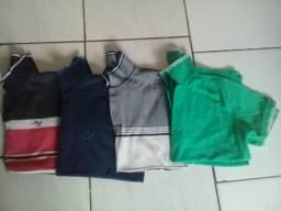 4 blusas polos masculina P/M