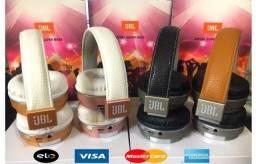 JBL Headphone/Fone de Ouvido Bluetooth, Metal bass rádio FM Sem Fio- ac, cartão e entrego