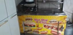 Carinho de hot dog é bangunsinha é pastel