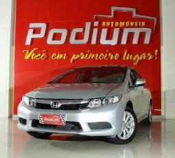 Honda Civic LXL 1.8 Flex Automático | Completo + Couro | Baixa KM 4P - 2013