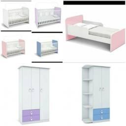 Guarda roupa berço e cama infantil novo na caixa várias cores aparti de 200 Leia o anúncio