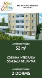 Apartamento com 2 dormitórios à venda, 52 m² por R$ 159.500 - Residencial Ilhas do Caribe
