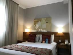 Flat no Quality Suítes Long Stay Bela Cintra disponível para venda, com 1 dormitório e 1 v