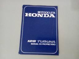 Manual do Proprietário Honda Turuna 125. Década 1980